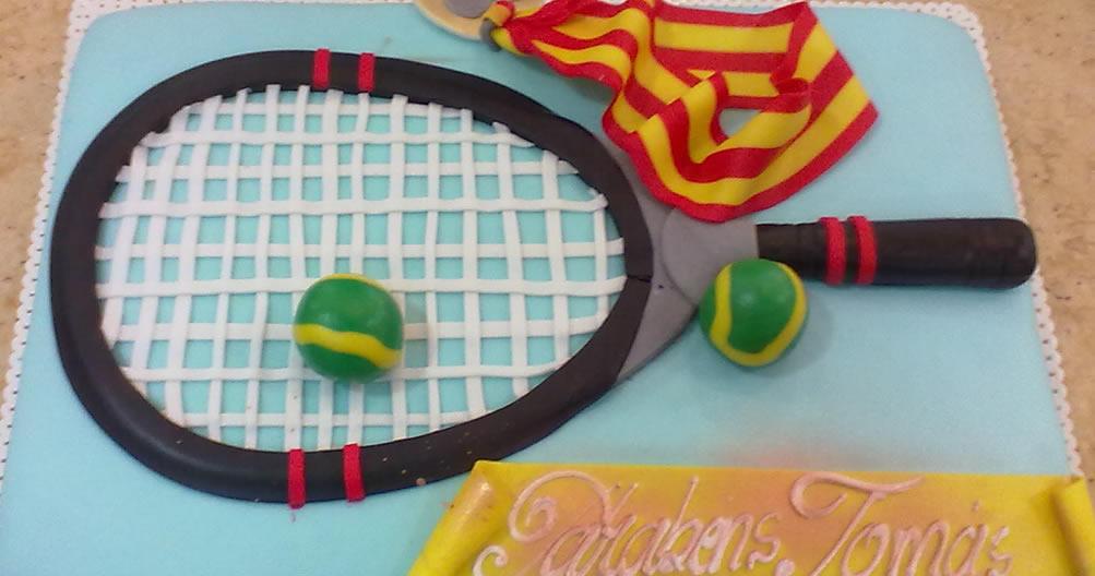 Bolo de Aniversário Raquete de ténis