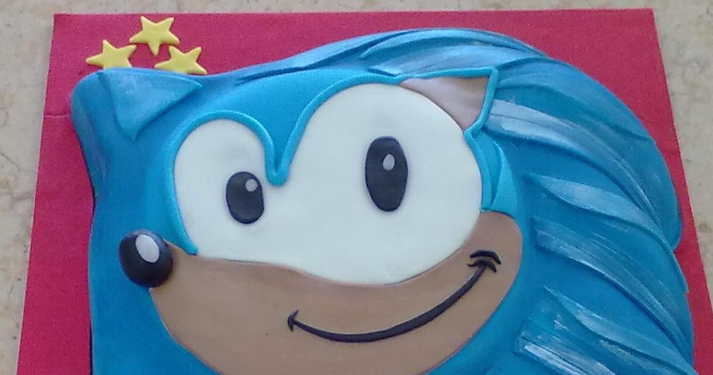 Bolo de Aniversário Sonic